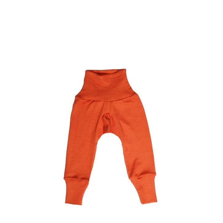 Cosilana Baby-Hose mit BUND orange uni 70% Merinoschurwolle / 30% Seide