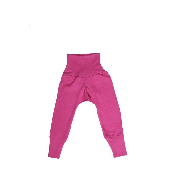 Cosilana Baby-Hose mit BUND pink uni 70% Merinoschurwolle / 30% Seide