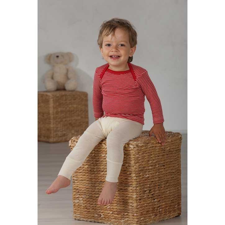 Cosilana Baby-Schlupfhemd 1/1 Arm Rot Wolle/Seide