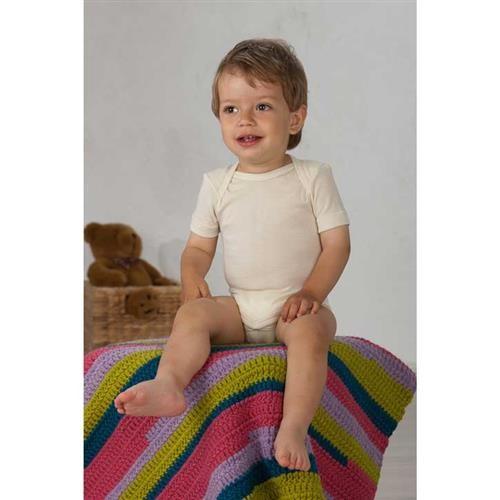 Cosilana Baby-Schlupfhemd 1/4 Arm Natur Wolle/Seide