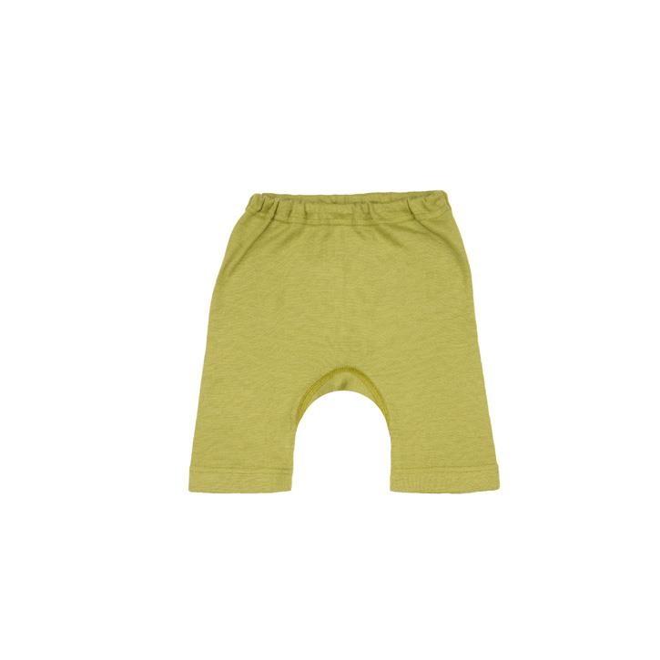 Cosilana Kinder-Bermuda grün uni 70% Merinoschurwolle / 30% Seide