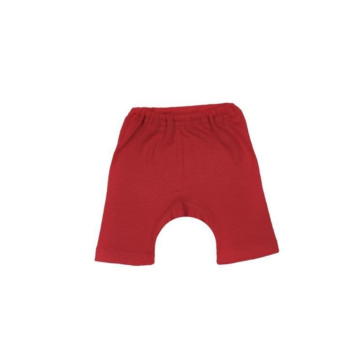 Cosilana Kinder-Bermuda rot uni 70% Merinoschurwolle / 30% Seide