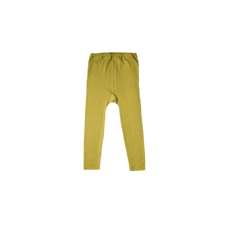 Cosilana Kinder Leggings grün uni 70% Merinoschurwolle / 30% Seide