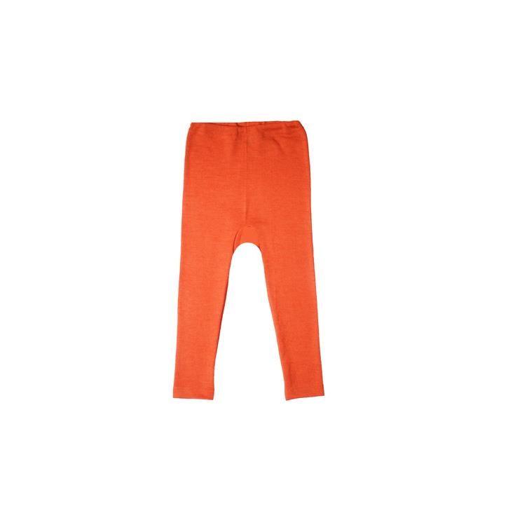 Cosilana Kinder Leggings orange uni 70% Merinoschurwolle / 30% Seide