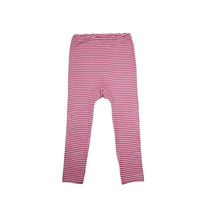 Cosilana Kinder Leggings pink geringelt 70% Merinoschurwolle / 30% Seide
