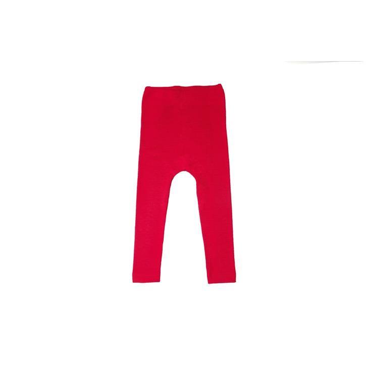 Cosilana Kinder Leggings rot uni 70% Merinoschurwolle / 30% Seide
