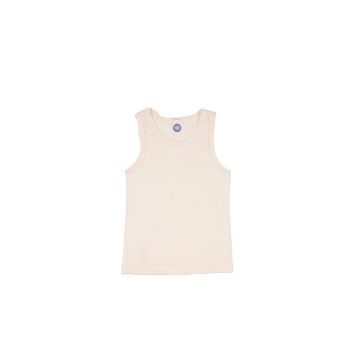 Cosilana Kinder-Unterhemd 0/Arm natur 70% Merinoschurwolle / 30% Seide