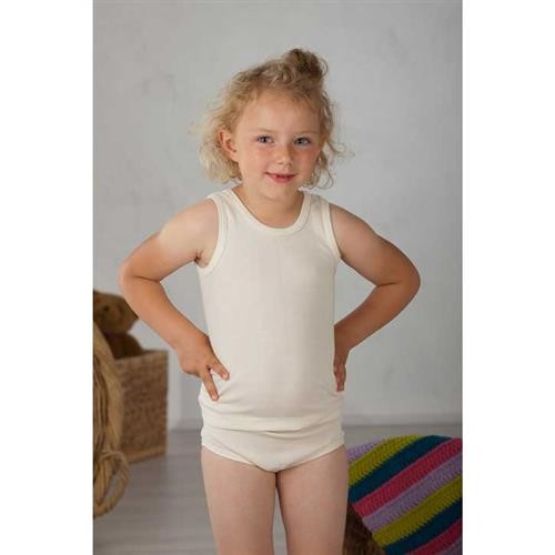 Cosilana Kinder-Unterhemd, 0/Arm Natur Wolle/Seide