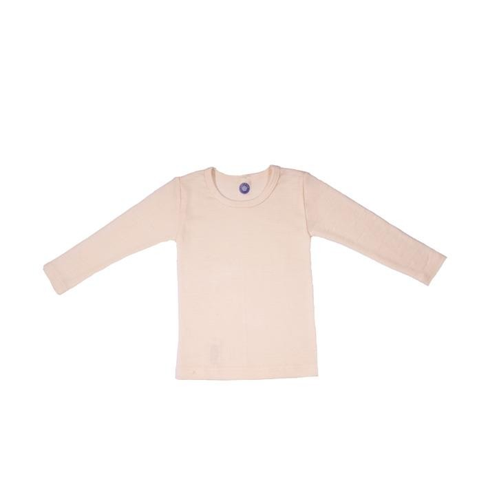 Cosilana Kinder-Unterhemd 1/1 Arm natur 70% Merinoschurwolle / 30% Seide
