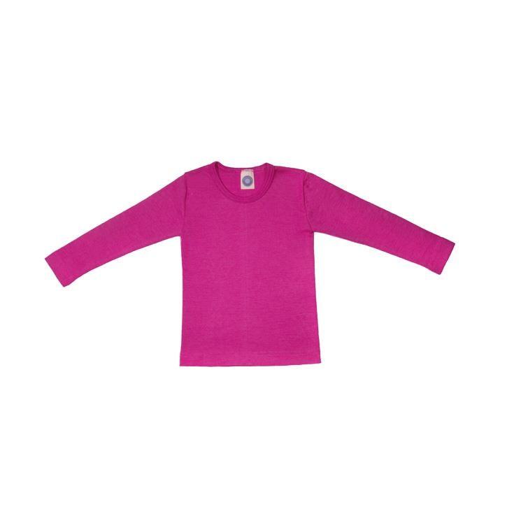 Cosilana Kinder-Unterhemd 1/1 Arm pink uni 70% Merinoschurwolle / 30% Seide