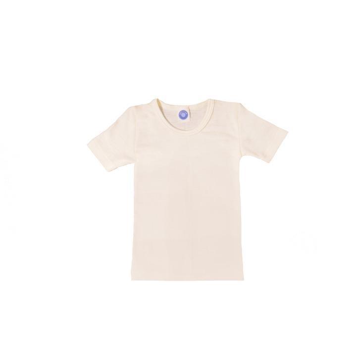 Cosilana Kinder-Unterhemd 1/4 Arm natur 70% Merinoschurwolle / 30% Seide