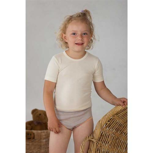 Cosilana Kinder-Unterhemd 1/4 Arm Natur Wolle/Seide