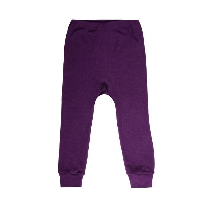 Cosilana Kinder-Unterhose lang 104 pflaume  70% Merinoschurwolle / 30% Seide