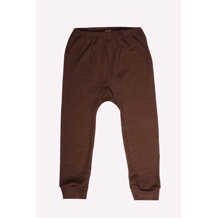 Cosilana Kinder-Unterhose lang braun uni 70% Merinoschurwolle / 30% Seide