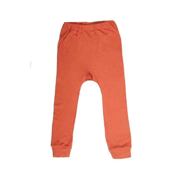 Cosilana Kinder-Unterhose lang orange uni 70% Merinoschurwolle / 30% Seide