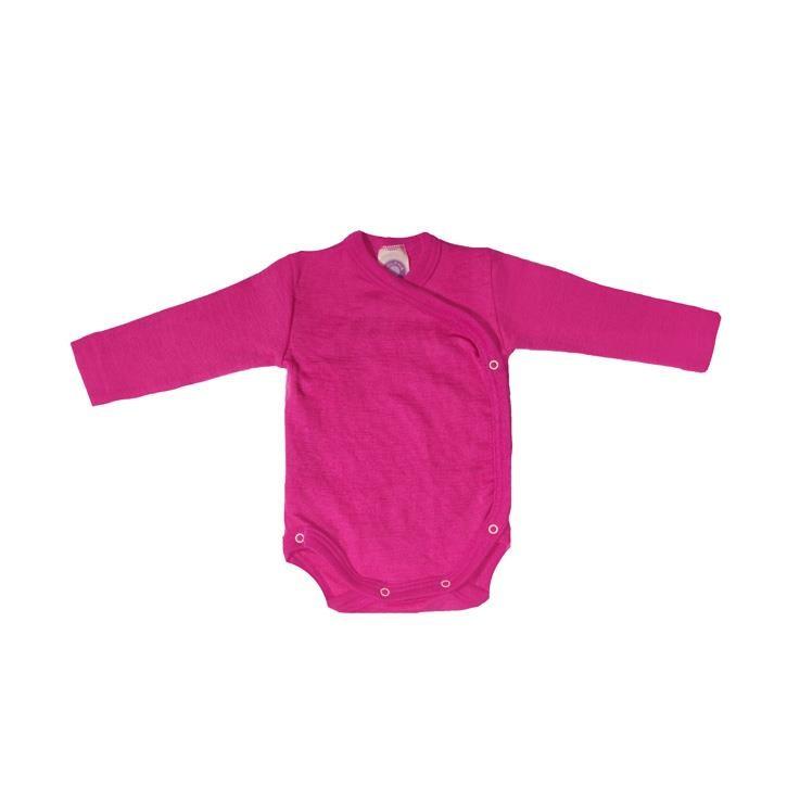 Cosilana Wickelbody 1/1 Arm pink uni 70% Merinoschurwolle / 30% Seide