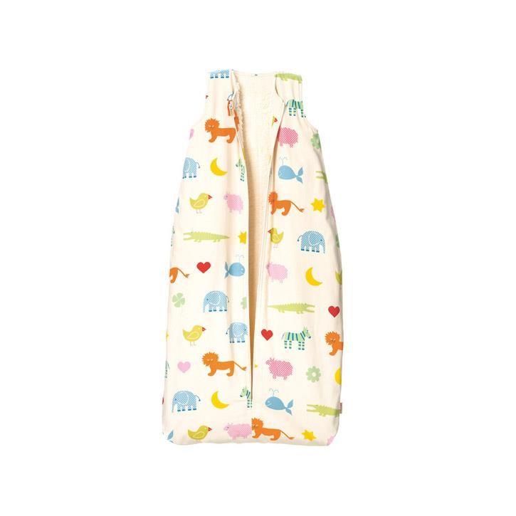 Cotonea Kinder-Schlafsack mit Plüschfutter Arche Noah