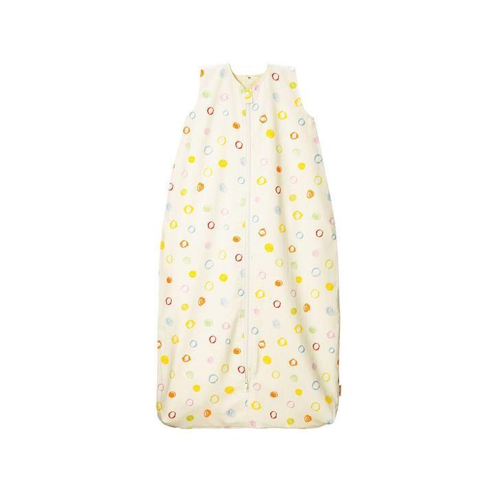 Cotonea Kinder-Schlafsack mit Plüschfutter / Gr. 110 / Kritzelkreise