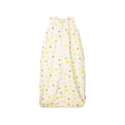 Cotonea Kinder-Schlafsack mit Plüschfutter / Gr. 90 / Kritzelkreise