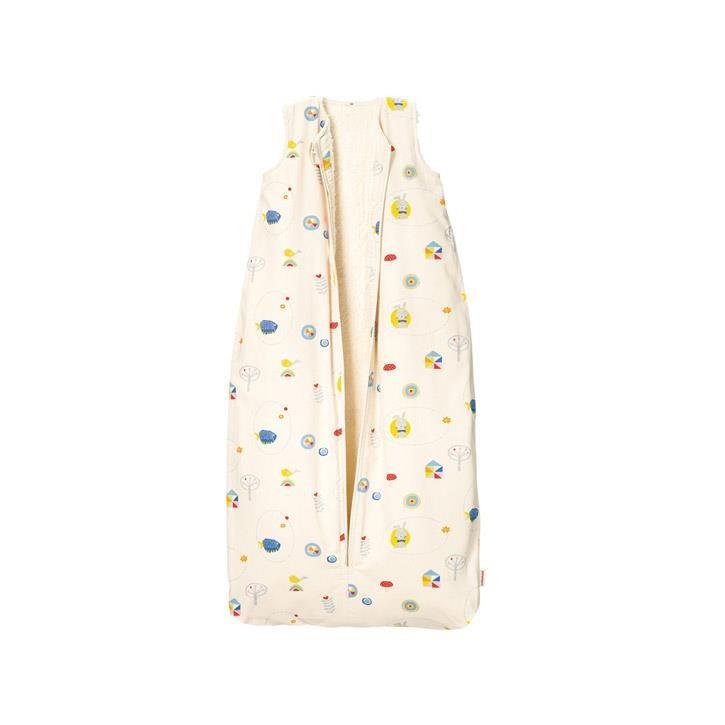 Cotonea Kinder-Schlafsack mit Plüschfutter Meister Hase