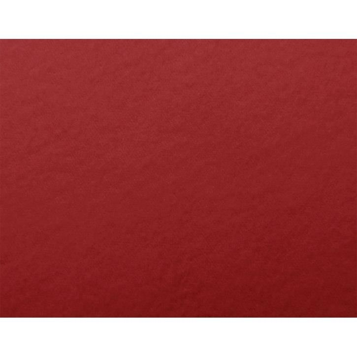 Cotonea Spannbezug Edel-Biber / 70cm x 140cm / Dunkelrot