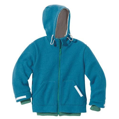 Disana Outdoor-Jacke blau 100% bio-Schurwolle/ Futter 100% bio-Baumwolle