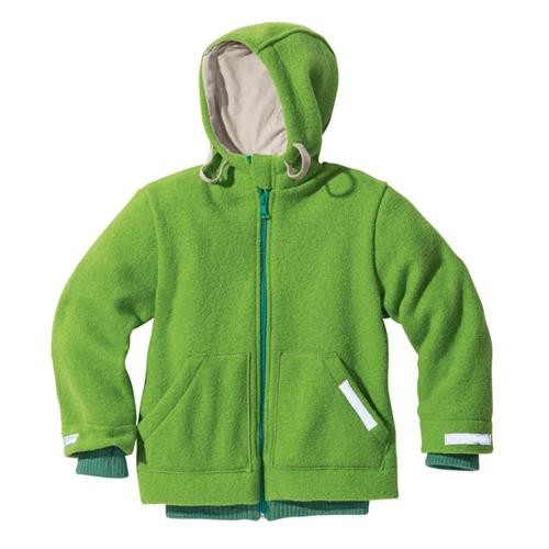 Disana Outdoor-Jacke grün 100% bio-Schurwolle/ Futter 100% bio-Baumwolle