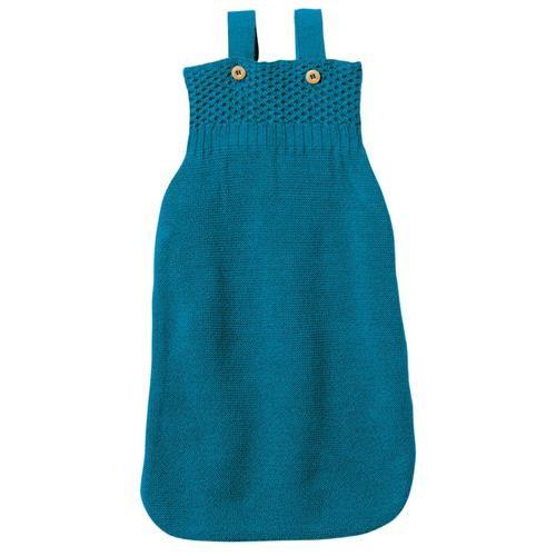 Disana Strick-Schlafsack 65 cm blau 100% bio-Schurwolle