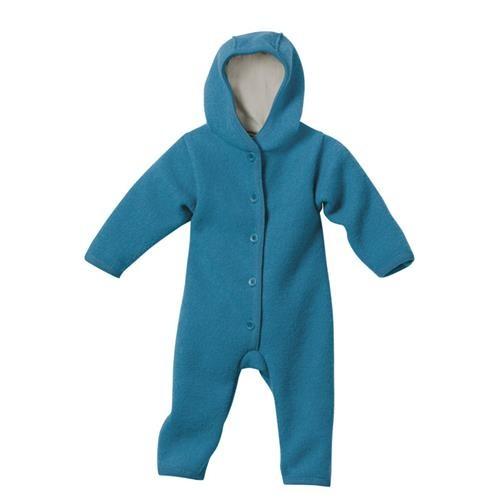 Disana Walk-Overall blau 100% bio-Schurwolle/ Futter 100% bio-Baumwolle