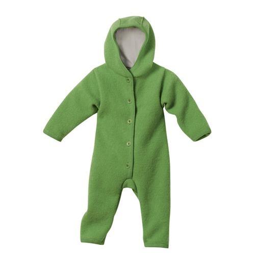 Disana Walk-Overall grün 100% bio-Schurwolle/ Futter 100% bio-Baumwolle