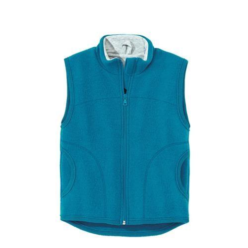 Disana Walk-Weste blau 100% bio-Schurwolle/ Futter 100% bio-Baumwolle