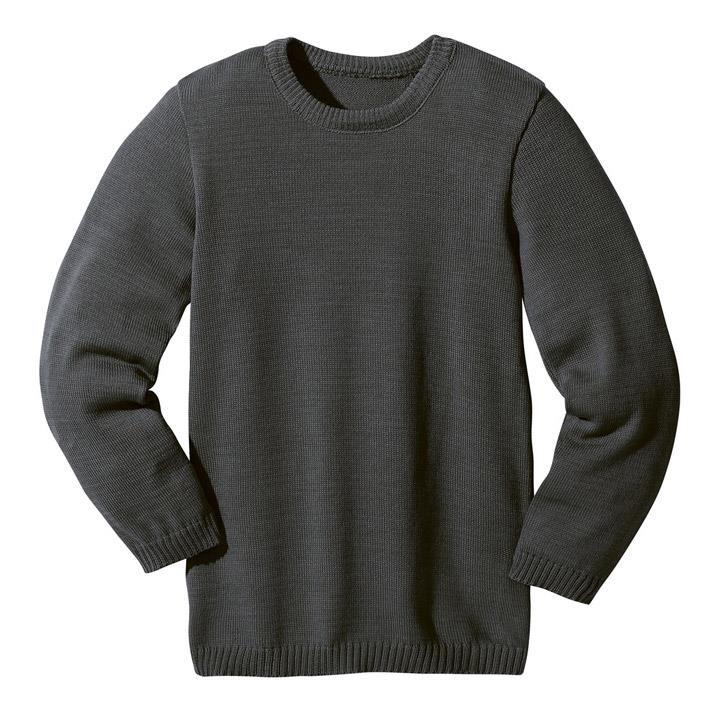 Disana Basic-Pullover anthrazit 100% kbT Schurwolle