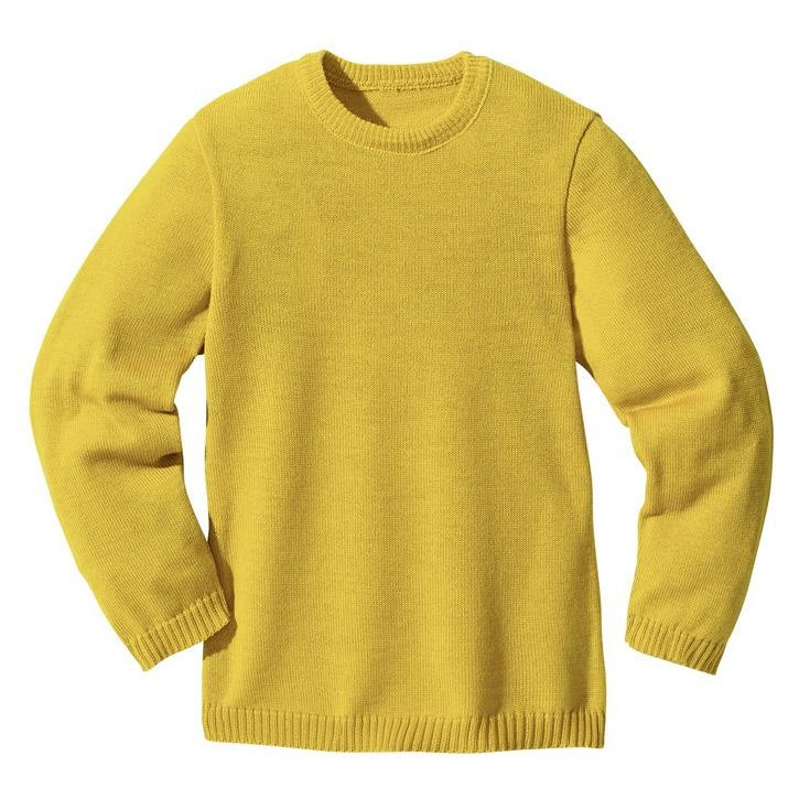 Disana Basic-Pullover curry 100% kbT Schurwolle
