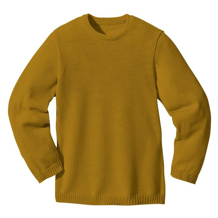 Disana Basic-Pullover gold 100% kbT Schurwolle