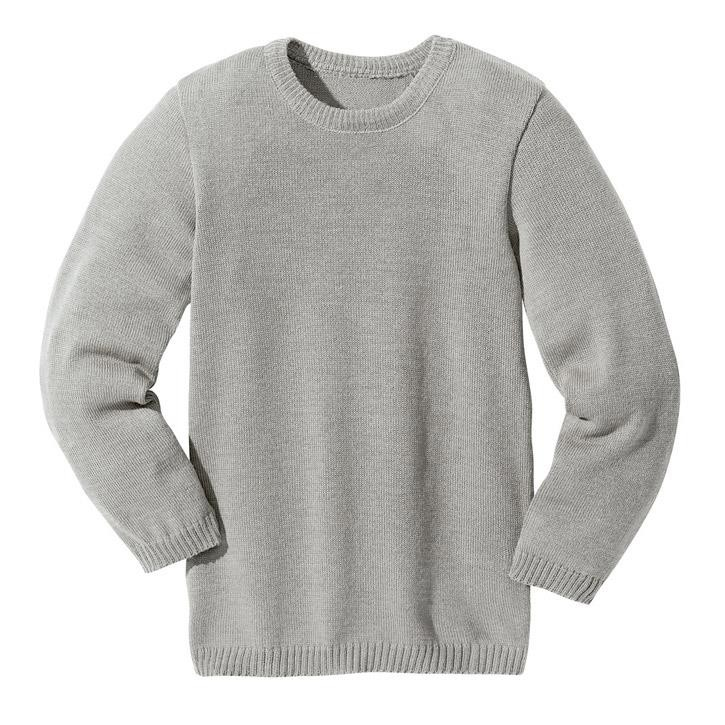 Disana Basic-Pullover grau 100% kbT Schurwolle
