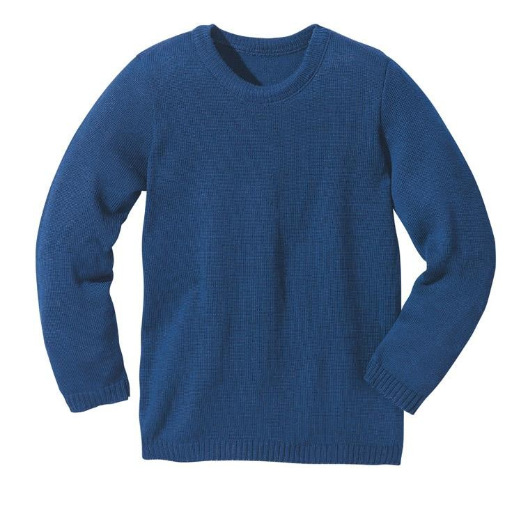 Disana Basic-Pullover Kollektion 18/19, marine 100% bio-Schurwolle