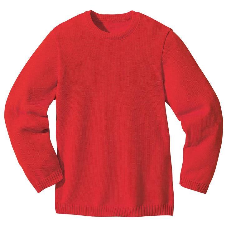 Disana Basic-Pullover Kollektion 18/19, rot 100% bio-Schurwolle