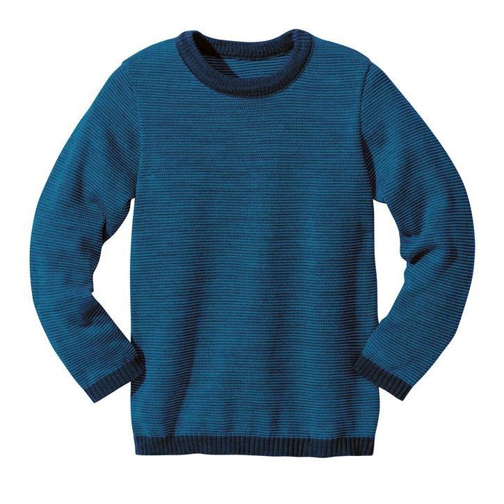 Disana Basic-Pullover marine/blau 100% kbT Schurwolle