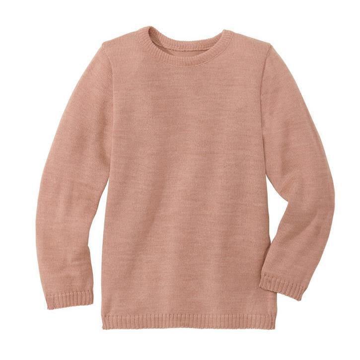 Disana Basic-Pullover rose 100% kbT Schurwolle