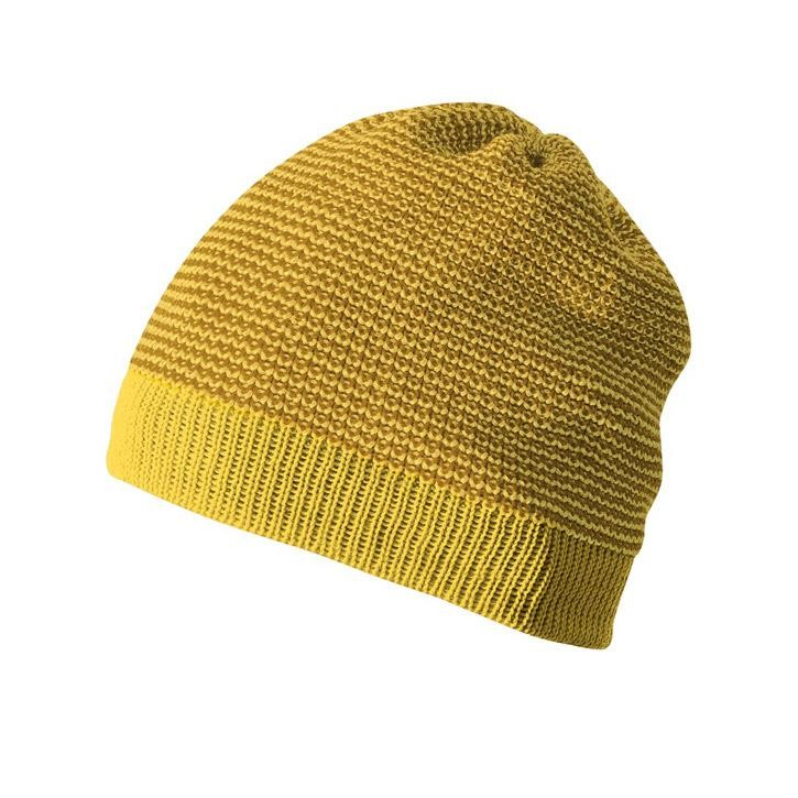 Disana Beanie curry/gold 100% kbT Schurwolle