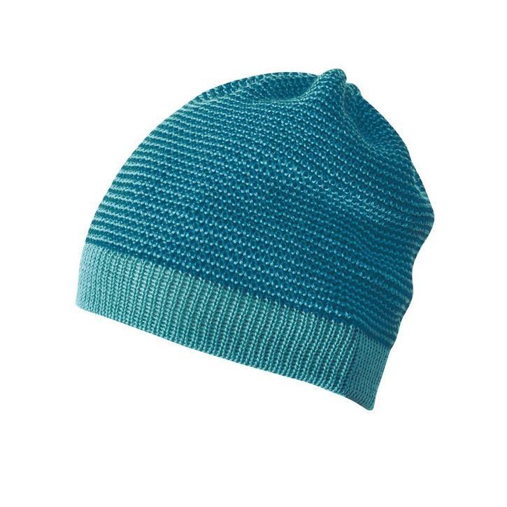 Disana Beanie lagoon/blau 100% kbT Schurwolle