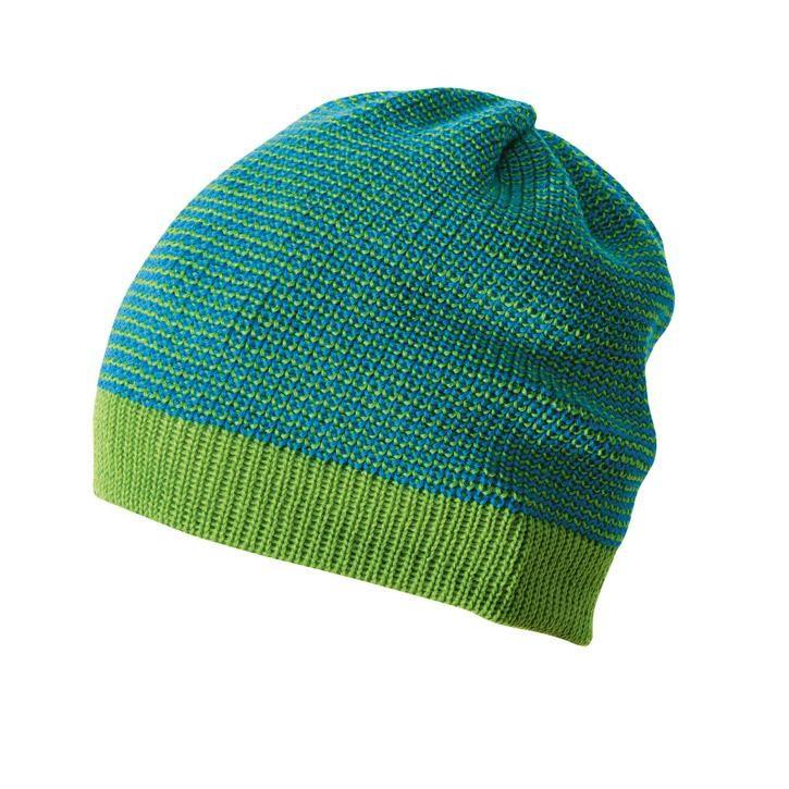 Disana Beanie Vorsaison, grün-blau 100% bio-Schurwolle