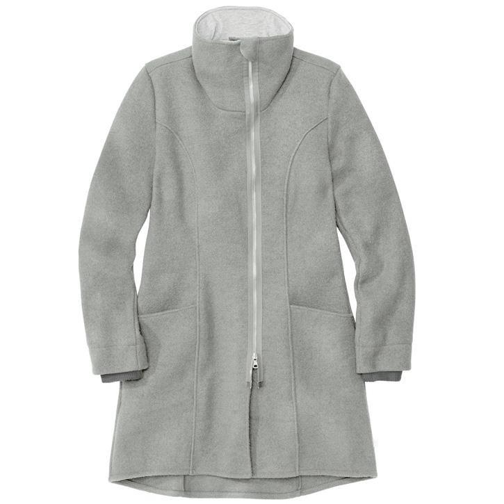 Disana Damen-Mantel grau 34 100% kbT Schurwolle/Futter 100% bkA Baumwolle
