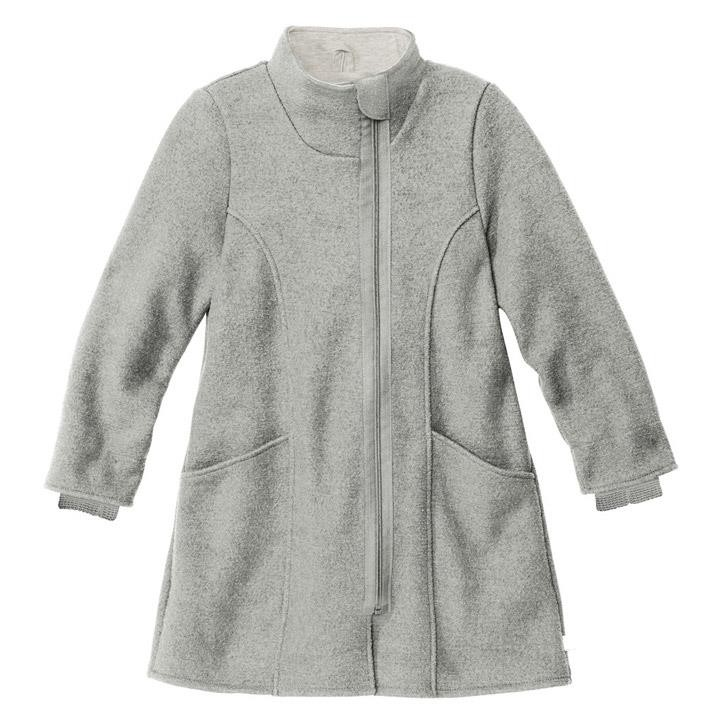 Disana Kinder-Mantel grau 100% kbT Schurwolle/Futter 100% bkA Baumwolle