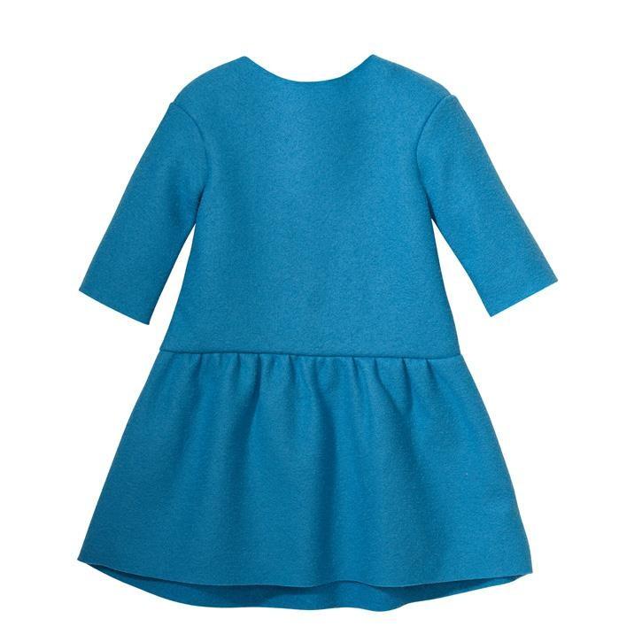 Disana Kleid karibikblau 100% Bio-Schurwolle