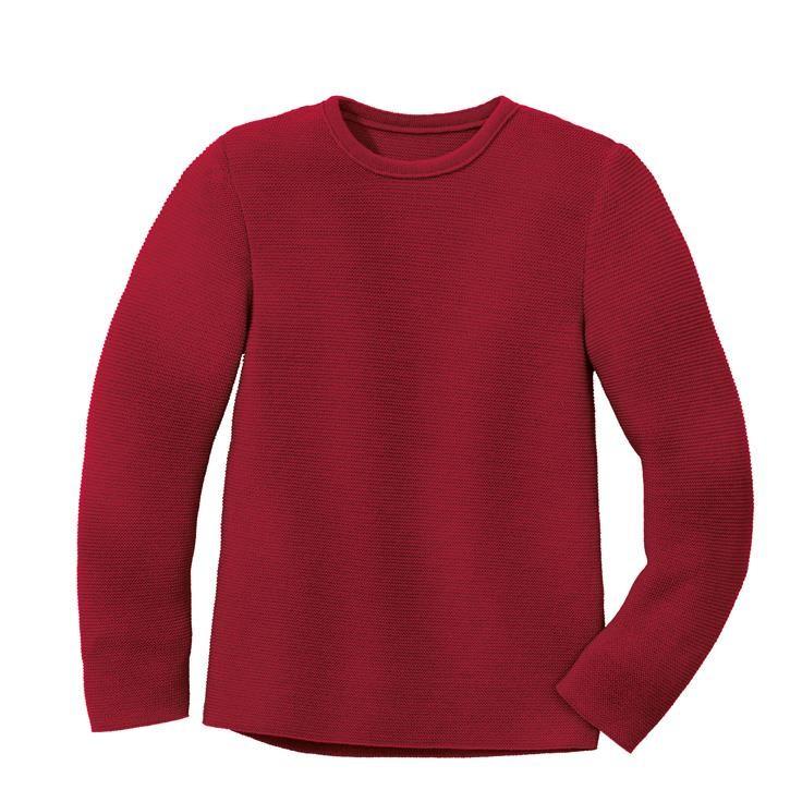 Disana Linksstrick-Pullover bordeaux