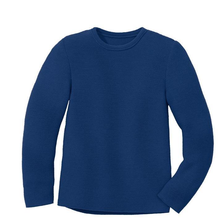 Disana Linksstrick-Pullover marine