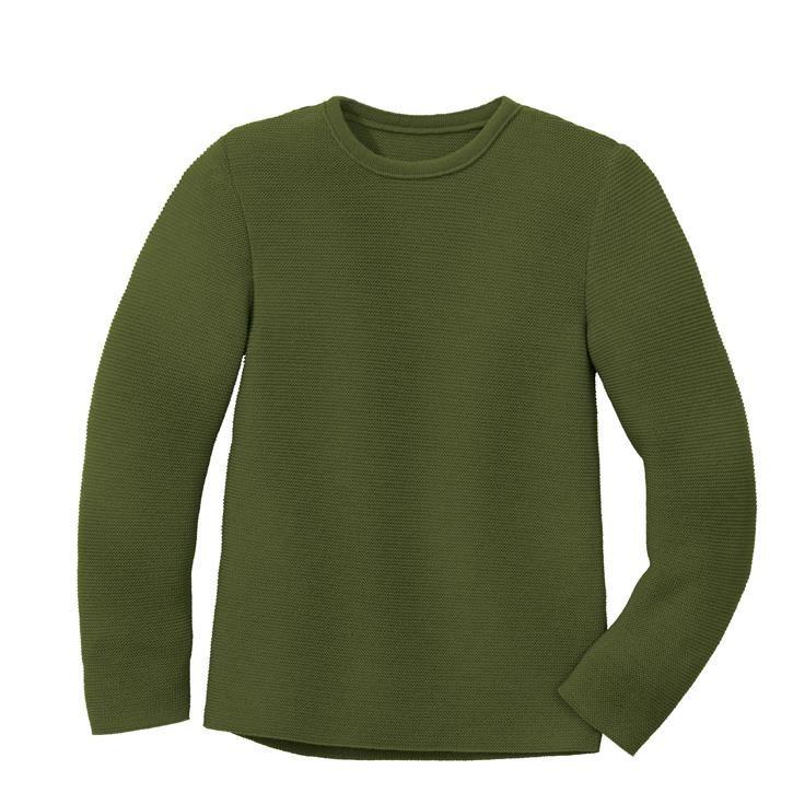 Disana Linksstrick-Pullover olive