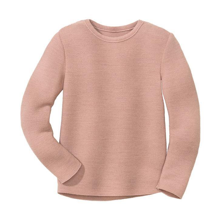 Disana Linksstrick-Pullover rosé