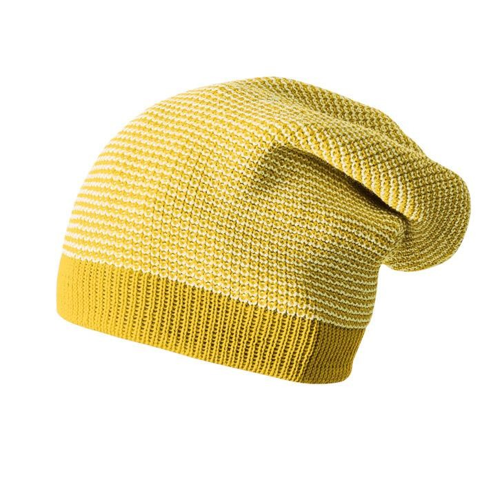 Disana Long-Beanie Kollektion 18/19, 3 curry-natur 100% bio-Schurwolle